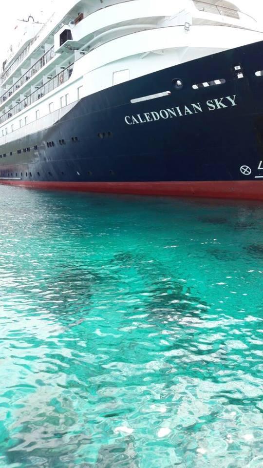 Cruise Ship Runs Aground And Resort Association Rarcc Raja Ampat Research Conservation Centre